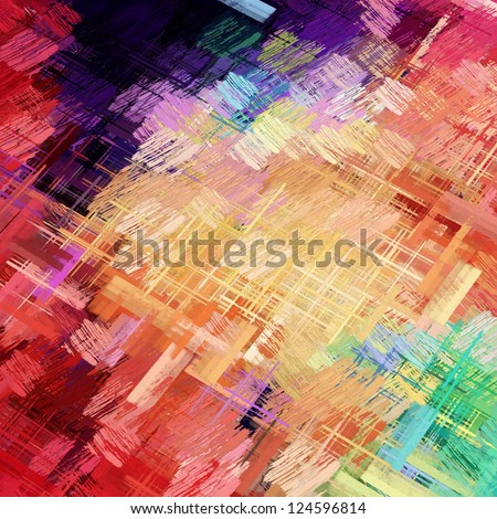 abstract colored strokes - stock photo