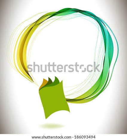 Abstract colorful background book icon and wave, education design - stock photo