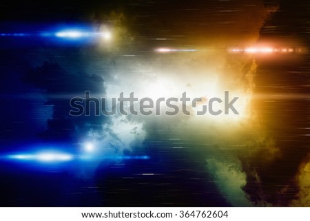 Abstract colorful background - bright lights in night dark dramatic sky - stock photo