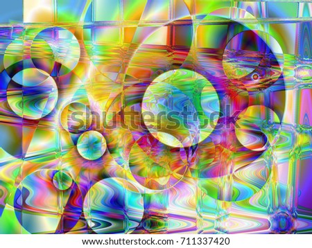 Abstract colorful background, green, illustration