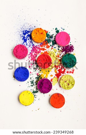 Abstract colorful background - Indian Holi festival colours - stock photo