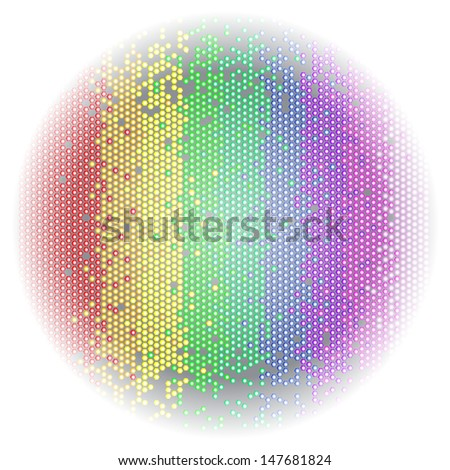 Abstract colorful background made from hexagons ,
