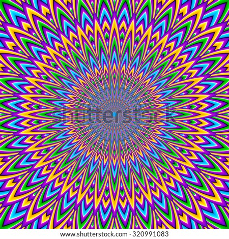 Abstract colorful  background (motion illusion)
