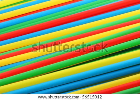 Abstract colorful background of drinking straws