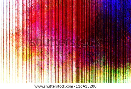 abstract colorful background on white, old grungy color splash and stain design on vertical stripes or line pattern, vintage grunge background multicolor texture for web banner, header, or side bar - stock photo