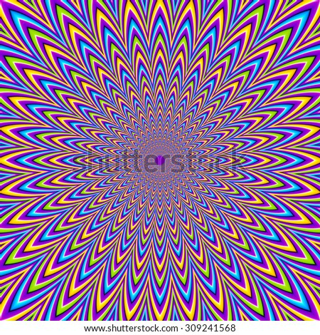 Abstract colorful  background (optical expansion illusion)