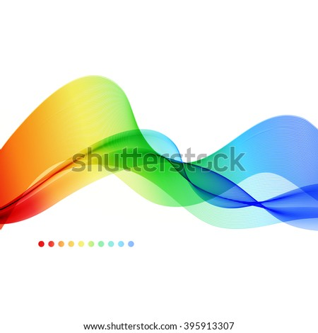 Abstract colorful background. Spectrum wave. illustration