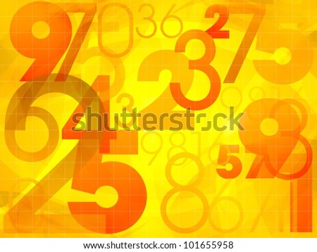 Abstract colorful background with numbers illustration - stock photo