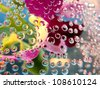abstract colorful background with water bubbles - stock photo