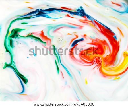 Food Coloring Milk Dish Soap Abstract Stock Photo 699497314 ...