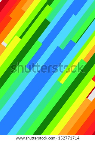 Abstract colorful bar  illustration