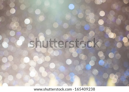 Abstract colorful blue & white blurred lights christmas bokeh background  - stock photo
