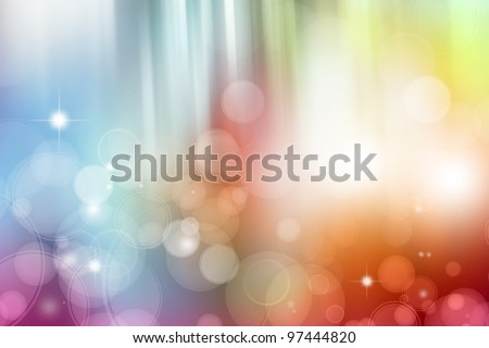 Abstract colorful blurs futuristic background. Copy space - stock photo