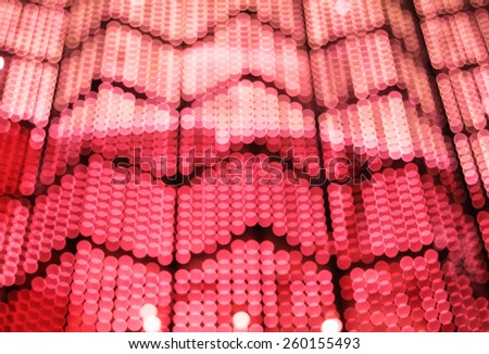Abstract colorful bokeh background image caused by shooting out of focus of light at night