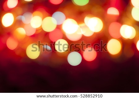 Abstract colorful bokeh blurred background