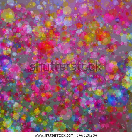 Abstract colorful bubbles background. Ideal for healthy lifestyle or relaxing concept background works. - stock photo