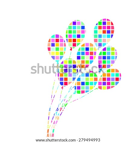 Abstract colorful  Bunch of Ballons vector illustration