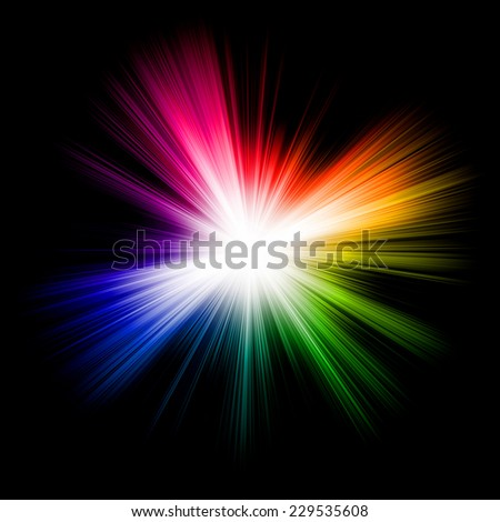 abstract colorful burst background - stock photo