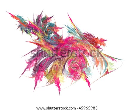 abstract colorful chaos of lines and waves - illustration