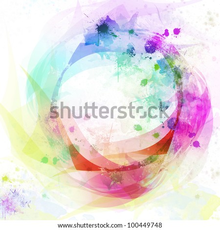 Abstract colorful circle background - stock photo