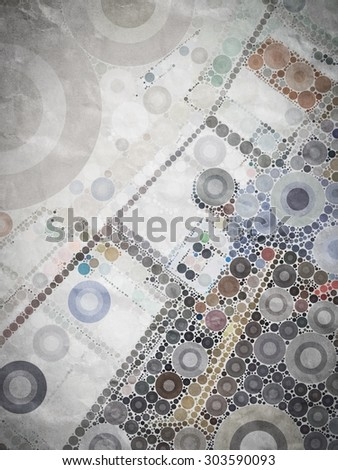 Abstract colorful circle ring shape texture background