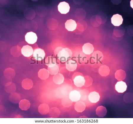 Abstract colorful circular bokeh background of christmas light - stock photo