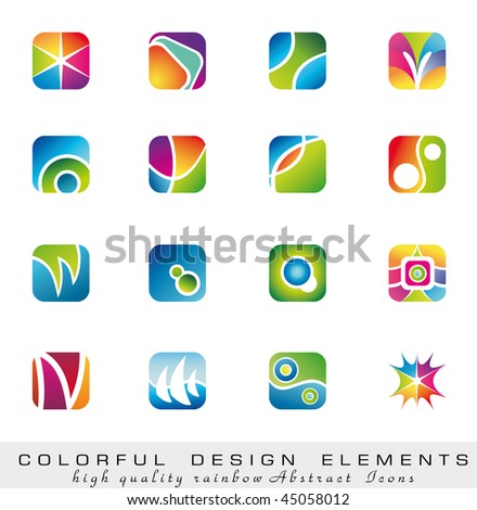 Abstract Colorful collection of Design Elements