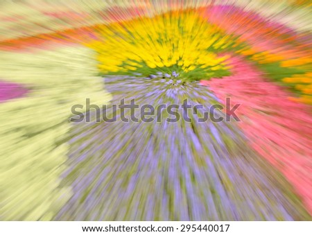 Abstract colorful composition with pink, lilac and white strokes with effect rotation