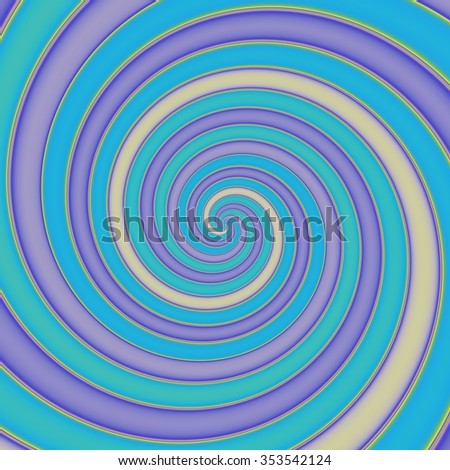 Abstract colorful crazy spirals in pastel colors