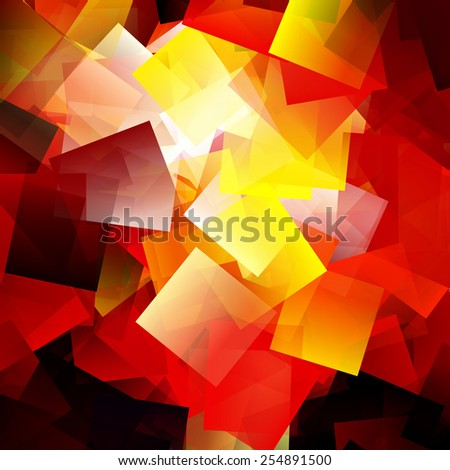 Abstract colorful cubism illustration background - stock photo