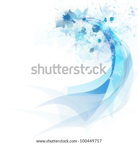 Abstract colorful curve and line background