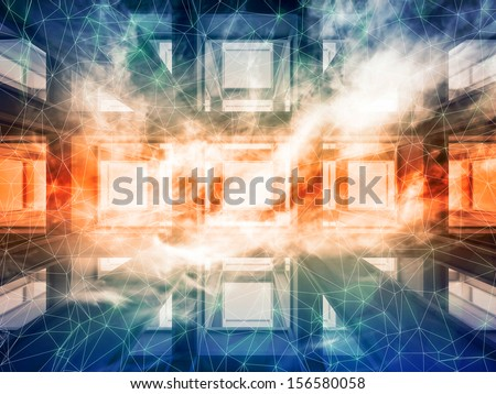 Abstract colorful 3d modern technology background  - stock photo