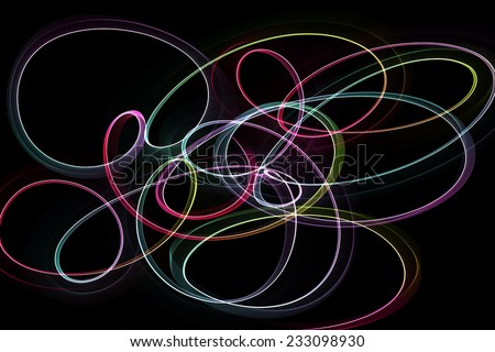 abstract colorful design waves  - stock photo