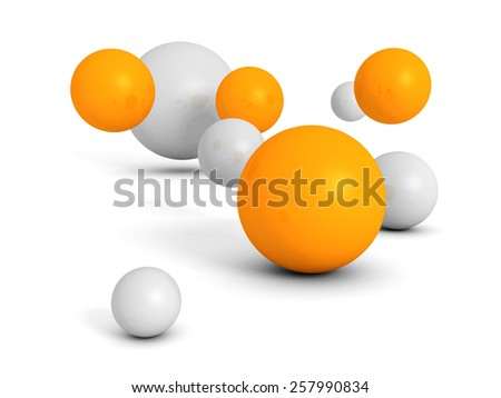 Abstract Colorful Geometric Many Spheres Background. 3d Render Illustration - stock photo