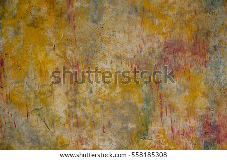 Abstract colorful grunge background with yellow, green tone and red like blood splash