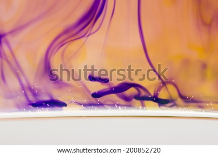 Abstract, colorful ink shapes  - stock photo