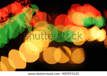 Abstract colorful light bokeh night, blurred picture