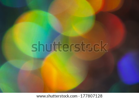 Abstract colorful light effects