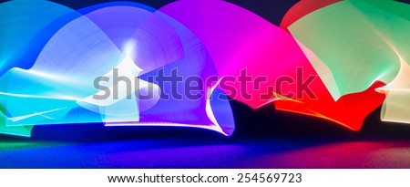 Abstract colorful light, great for use as a background.