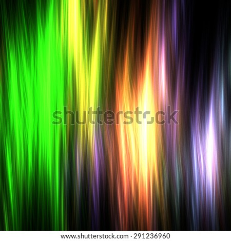Abstract colorful light illustration with black background.