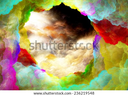 Abstract colorful lightning fractal background