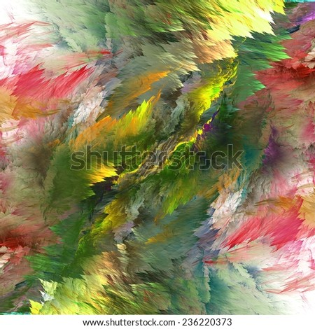 Abstract colorful lightning fractal black background