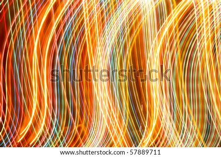 abstract colorful line of light - stock photo
