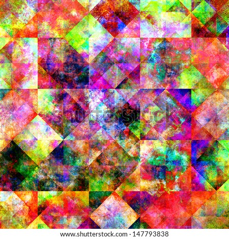 abstract colorful messy background, fractal background image - stock photo