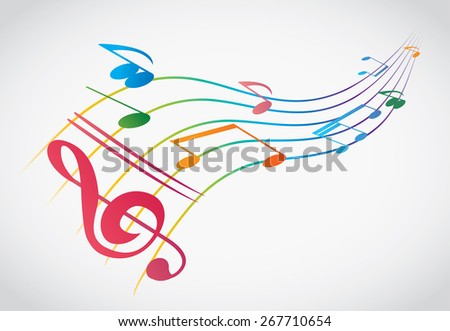 abstract colorful notes  - stock photo