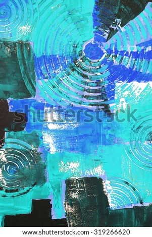 Abstract colorful oil painting on canvas. - stock photo