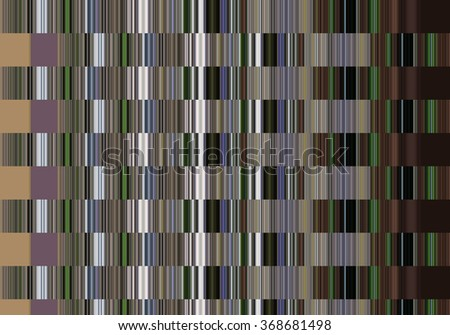 Abstract colorful pattern created with vertical stripes and squares of color. Illustration.