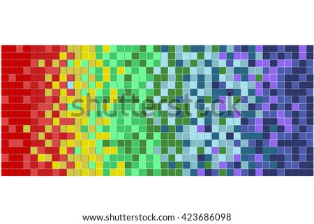 abstract colorful Pixels background - stock photo