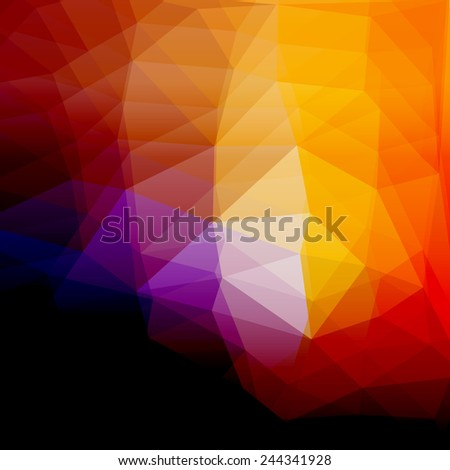 abstract colorful polygonal background, raster version - stock photo
