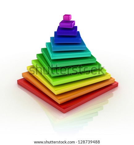 abstract colorful pyramid - stock photo